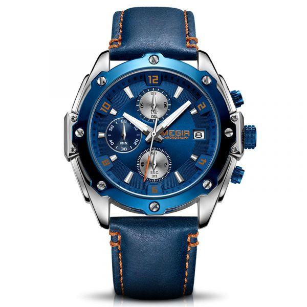 氣勢磅礡 運動真三眼 MG2074 腕錶,手錶,男錶,三眼錶,