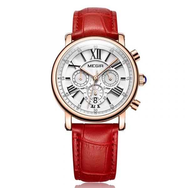 羅馬經典 真三眼女錶 MG2058 腕錶,手錶,女錶,三眼錶,皮錶帶