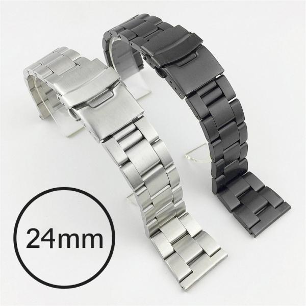 24mm 不銹鋼雙保險扣錶帶 腕錶,手錶,男錶,三眼錶,