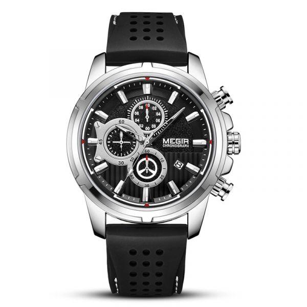 品味奢華 運動真三眼 MG2101 腕錶,手錶,男錶,三眼錶,