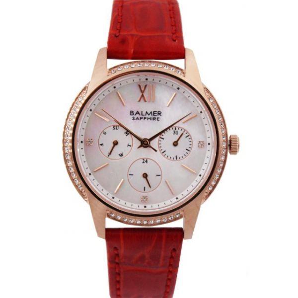 典雅氣質 三眼貝殼面輕薄女錶 BM8116 賓馬,賓馬8116,賓馬錶,女錶