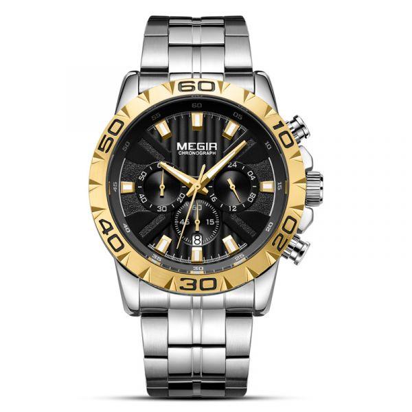 成名在望 鋼帶真三眼腕錶 MG2087 腕錶,手錶,男錶,三眼錶,賽車,競速