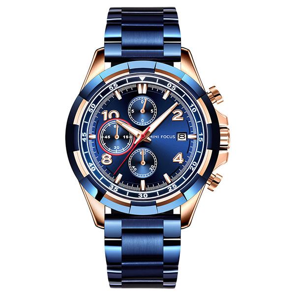 風尚品格 真三眼鋼帶腕錶 MF0198 腕錶,手錶,男錶,三眼錶,運動,鋼帶