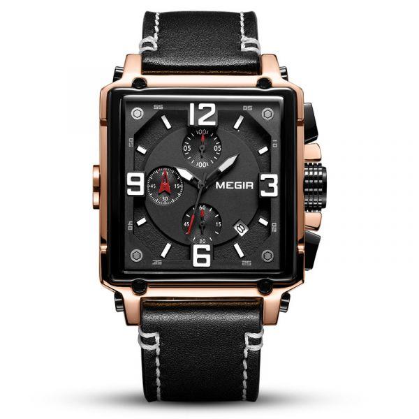 正氣凜然 方形真三眼 MG2061 腕錶,手錶,男錶,三眼錶,方形錶