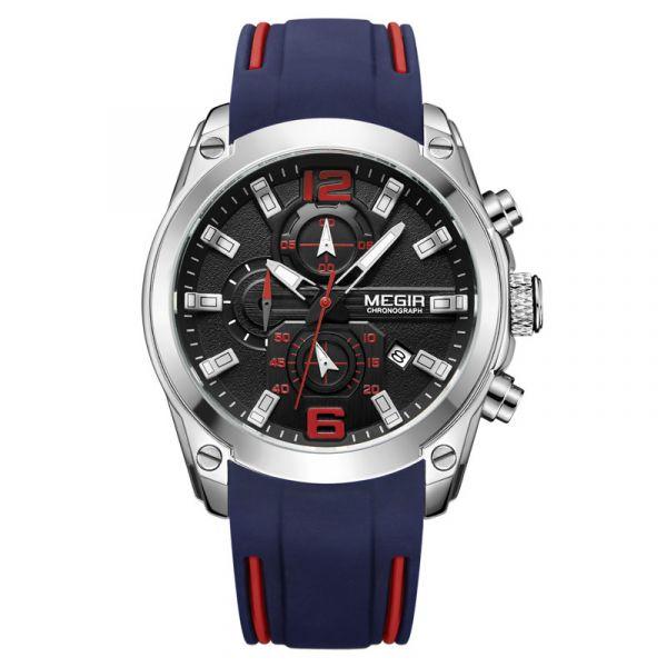 魂動如影 運動真三眼腕錶 MG2063 手錶,男錶,三眼錶,賽車,競速
