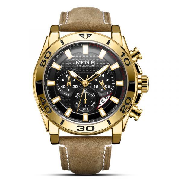 沙漠之鷹 軍事風真三眼 MG2094 腕錶,手錶,男錶,三眼錶,