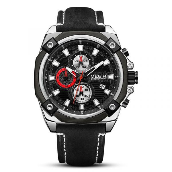 運動悍將 運動真三眼 MG2054 腕錶,手錶,男錶,三眼錶,
