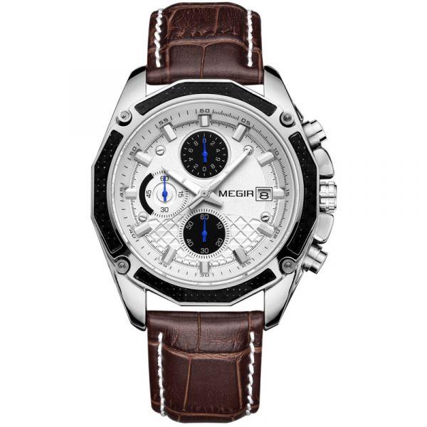 光彩耀人 計時真三眼腕錶 MG2015 腕錶,手錶,男錶,三眼錶,