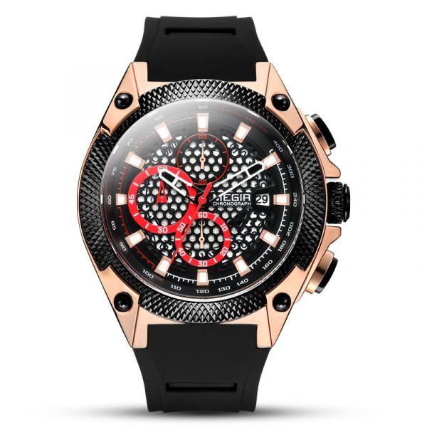 追逐繁星 運動真三眼 MG2127 腕錶,手錶,男錶,三眼錶,