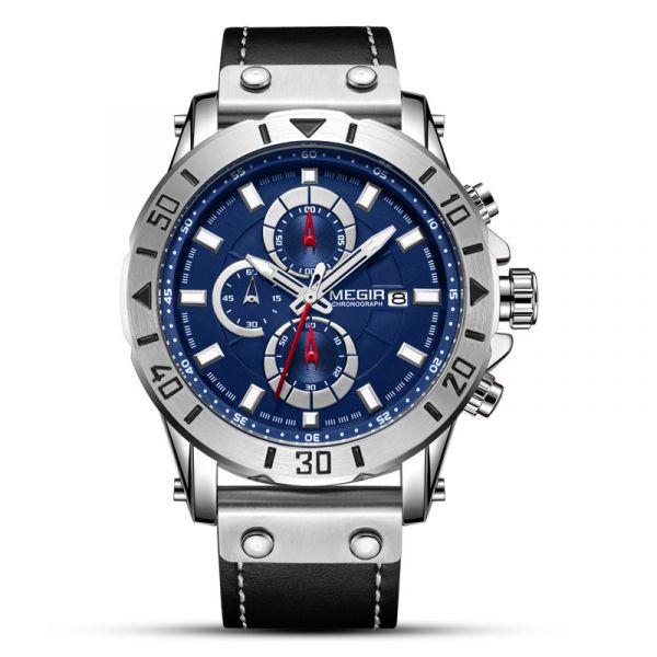 光芒外露 運動真三眼 MG2081 腕錶,手錶,男錶,三眼錶,
