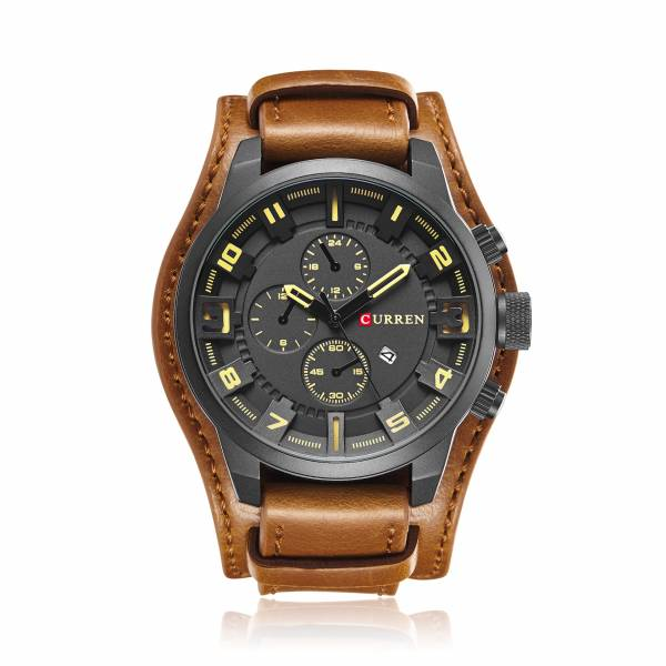 商務風 類三眼雙錶帶 CR8225 手錶,男錶,類三眼錶,商務,軍事