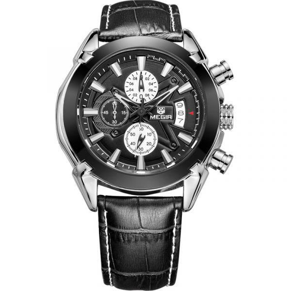 分秒必爭 計時真三眼腕錶 MG2020 腕錶,手錶,男錶,三眼錶,