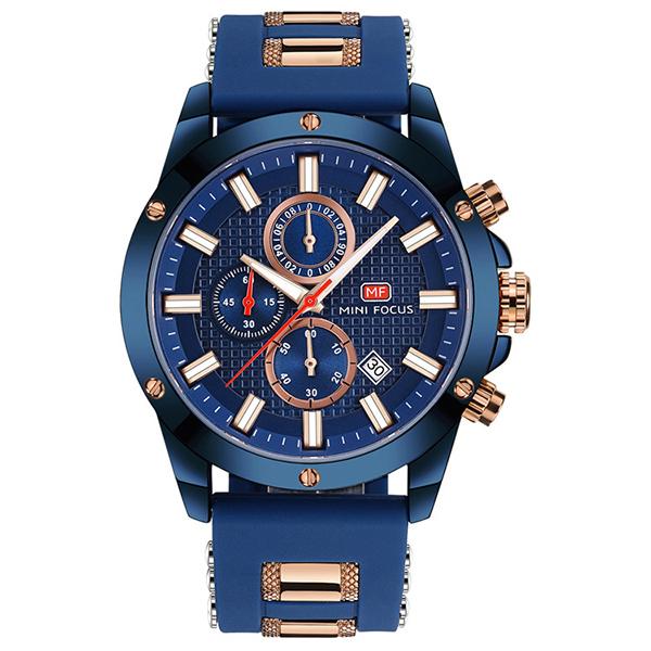 經典永恆 真三眼矽膠帶腕錶 MF0089 腕錶,手錶,男錶,三眼錶,運動,矽膠錶帶