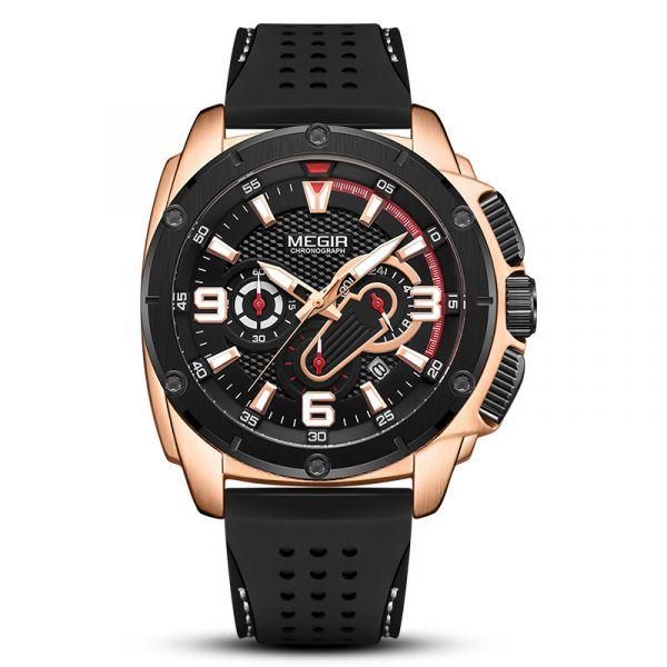 高燃硬核 運動真三眼 MG2147 腕錶,手錶,男錶,三眼錶,