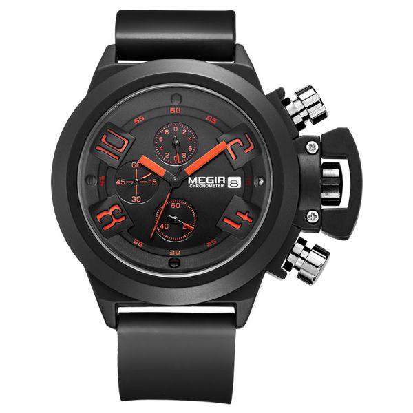 熱血青春 運動真三眼 MG2002 腕錶,手錶,男錶,三眼錶,