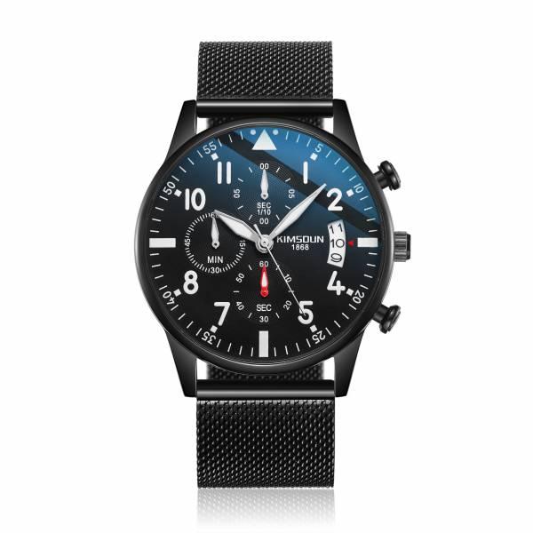 典雅風範 米蘭帶三眼 K-001 腕錶,手錶,男錶,米蘭帶