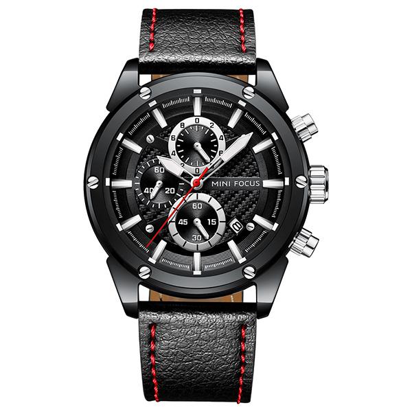 商務時尚 真三眼腕錶 MF0161 腕錶,手錶,男錶,三眼錶,運動,鋼帶