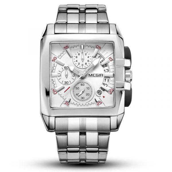 時刻出眾 方形真三眼 MG2018 腕錶,手錶,男錶,三眼錶,方形錶