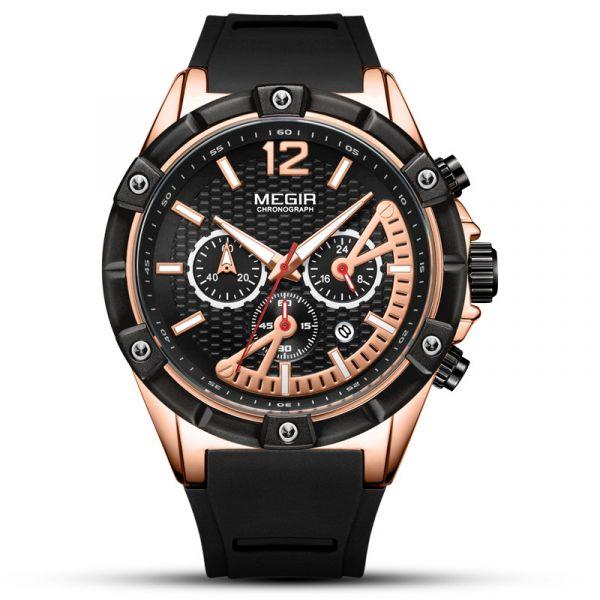 跨境騎士 運動真三眼腕錶 MG2083 腕錶,手錶,男錶,三眼錶,賽車,競速