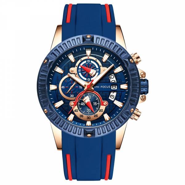 鋼鐵之心 運動真三眼 MF0244 手錶,男錶,三眼錶,運動,