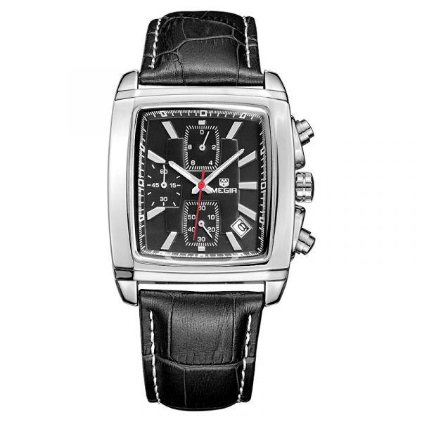復古酷潮 方形真三眼 MG2028 腕錶,手錶,男錶,三眼錶,方形錶