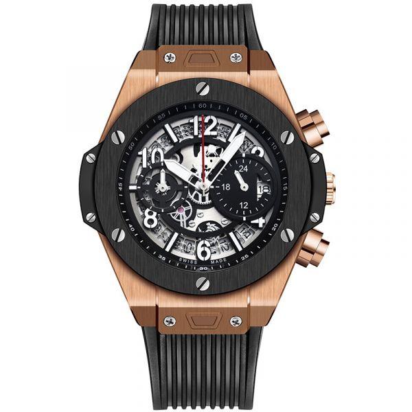 睿智紳士 鏤空雙眼腕錶 K-523B 腕錶,手錶,男錶,鏤空錶,