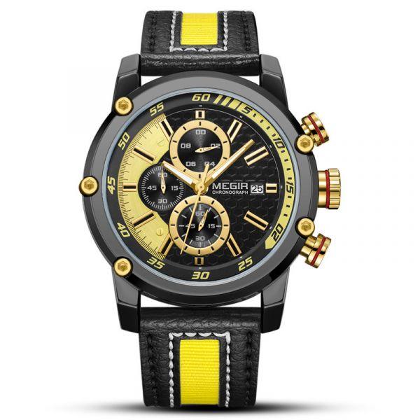 大黃蜂 運動真三眼 MG2079 腕錶,手錶,男錶,三眼錶,