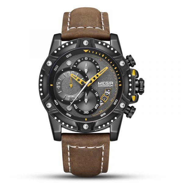 都會幻影 運動真三眼 MG2130 腕錶,手錶,男錶,三眼錶,