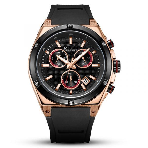 捍衛勇士 軍事真三眼腕錶 MG2073 腕錶,手錶,男錶,三眼錶,賽車,競速