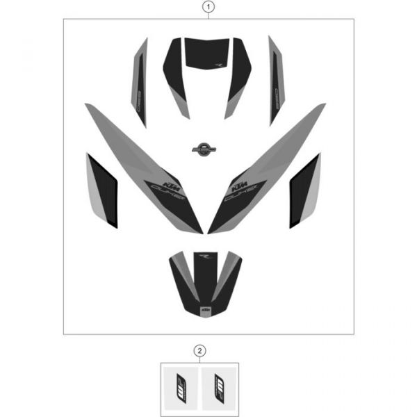 DECAL SET 690 DUKE R 2016
