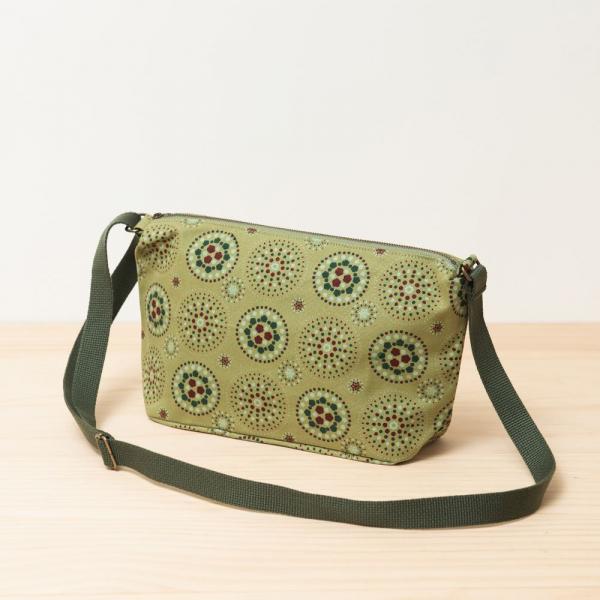 橫式拉鏈側背包/煙火/橄欖灰綠 側背包, 斜背包