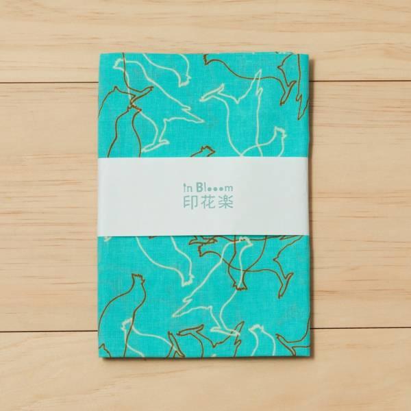 和風手拭巾/台灣八哥/冰湖藍 手帕, 方巾, 掛壁裝飾, 手拭巾, 包袱巾