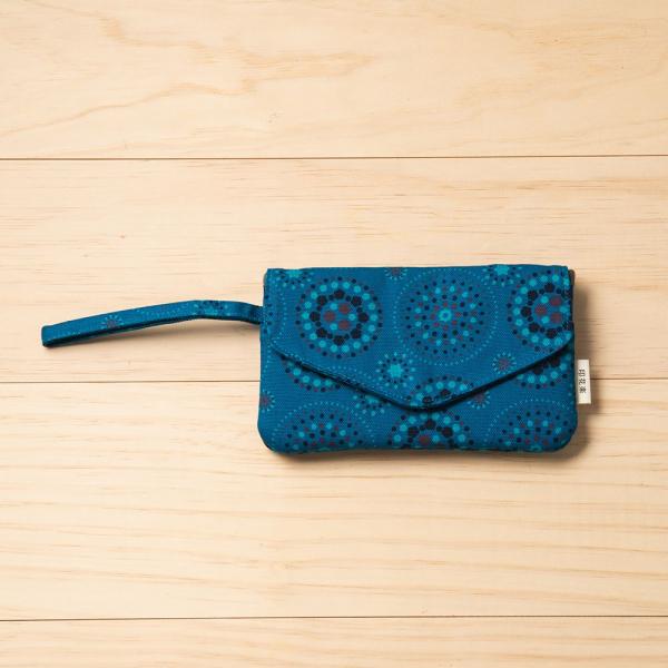 手機掛腕收納袋/煙火/星夜藍色 手機套, 手機收納包, 手機配件