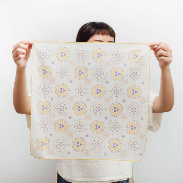 包布巾/煙火/夏夢藍黃 布巾, 包巾, 手帕