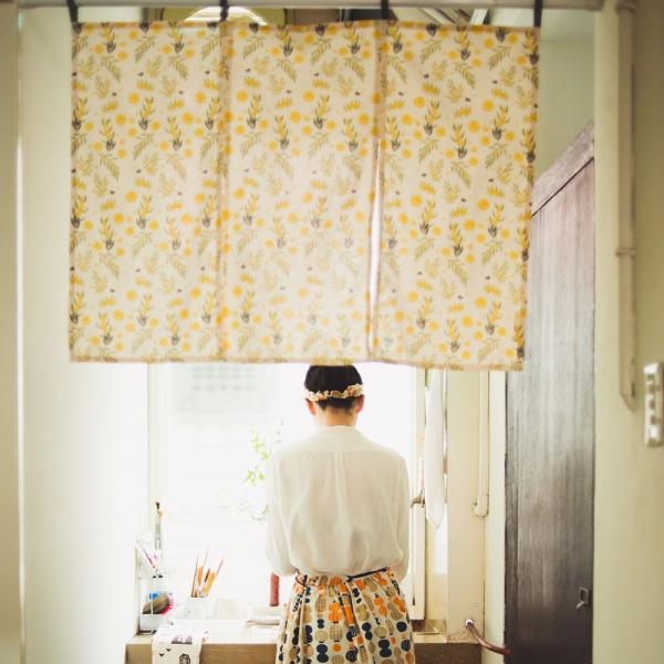 三片式掛帘/米力系列/黃相思 門簾, 掛帘