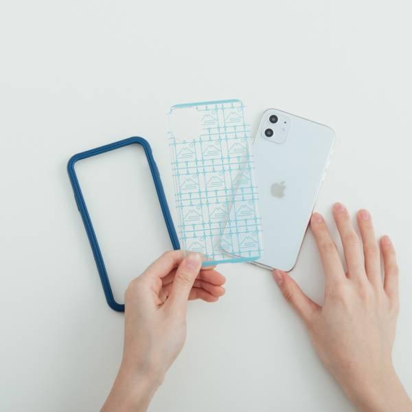 【預購/含iPhone12】印花樂X犀牛盾NX背板-iPhone/鐵花窗/富士山藍色 手機殼, 手機套, 犀牛盾, iPhone 手機殼, iPhone 12