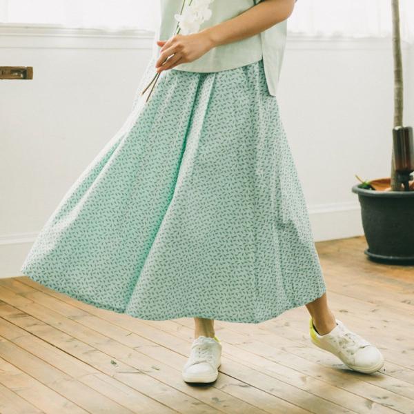 寬版打褶長裙/台灣八哥4號/薄荷藍綠 長裙