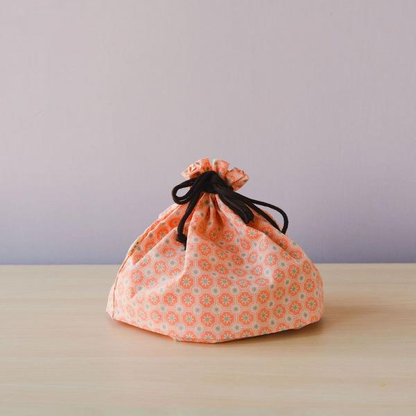 束口旅行衣物袋-M/老磁磚2號/層次膚粉 旅行衣物袋