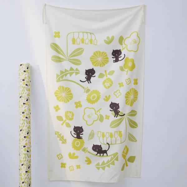 藝術掛簾/藝術家聯名/印花樂 x 米力/黃花與無辜貓 掛飾,掛布,掛畫,空間佈置,生活佈置,藝術品