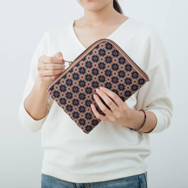 iPad Mini收納包/老磁磚2號/古董藍褐 平板保護殼, 平板保護袋, iPad收納袋
