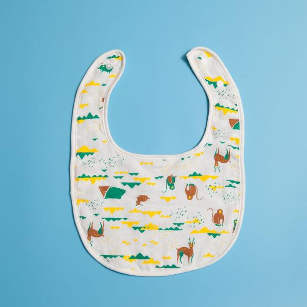 寶寶口水巾/山中健行/健康黃綠 口水圍兜, 口水巾, 寶寶毛巾, 寶寶紗巾