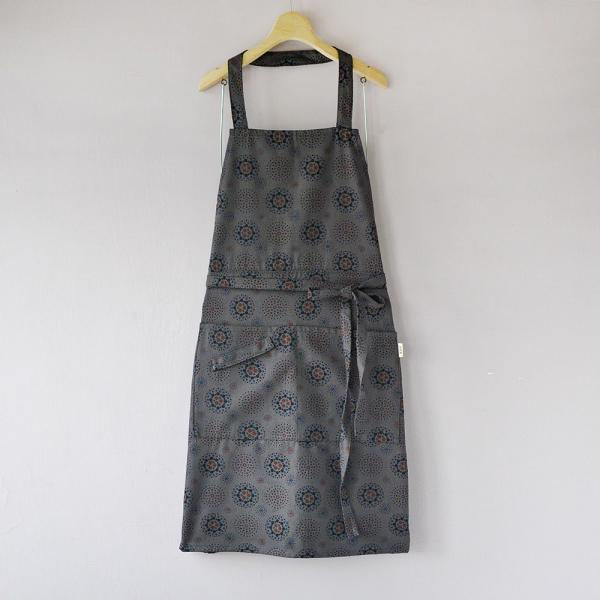 全身/半身兩用圍裙/煙火/夜空灰色 圍裙
