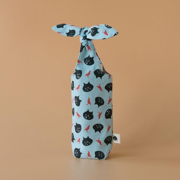 兔耳水壺袋/限定花色/にゃー x inBlooom 天空藍 環保飲料提袋, 隨行杯提袋, 兔耳袋