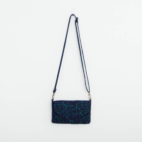 側背信封口小包/台灣八哥/幻影深藍 隨身包, 側背包
