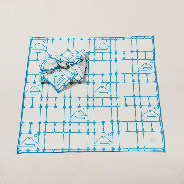 包布巾/鐵花窗/富士山藍色 布巾, 包巾, 手帕