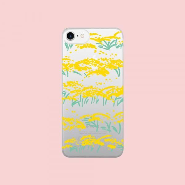 【現貨】印花樂X犀牛盾NX背板-iPhone X/雜花/背蓋透明香稻黃 手機殼, 手機套, 犀牛盾, iPhone 手機殼