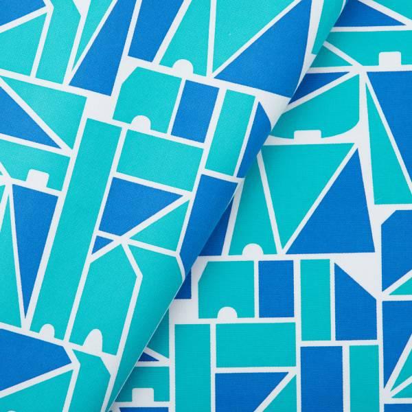 手印棉帆布(滿花)-250g/y/藝術家聯名/印花樂 x LEMONNI/藍調 布料, 棉帆布, 手作材料