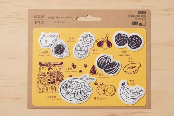 N次貼-造型標籤/美味台灣_水果/黃紫 N次貼, 造型標籤