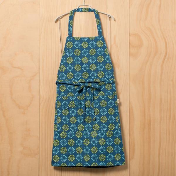 全身/半身兩用圍裙/烏秋圈圈/自在藍綠 圍裙
