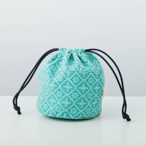 球型束口袋/玻璃海棠/冰晶藍綠 束口袋, 收納袋